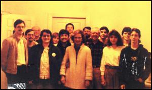 Mari and Jan with Jimmy and Roslynn around 1988 at Maranatha
